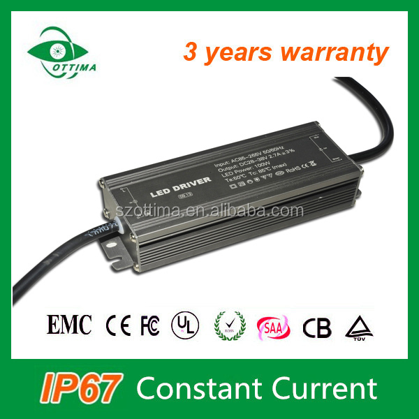 110W 3.3A constant current ip66 waterproof electronic led driver for led light