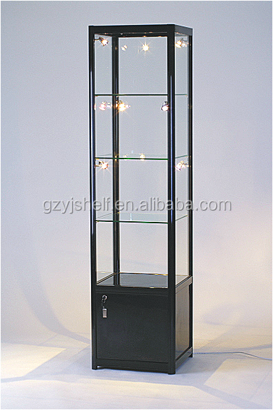 Tempered glass corner showcase cabinet living room - Glass display units for living room ...