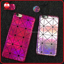 2016 New Arrive Fashion Slim Hard Plastic Snap On Glitter Diamond Leather Phone Case for Iphone 5 SE 6 6s Plus Samsung