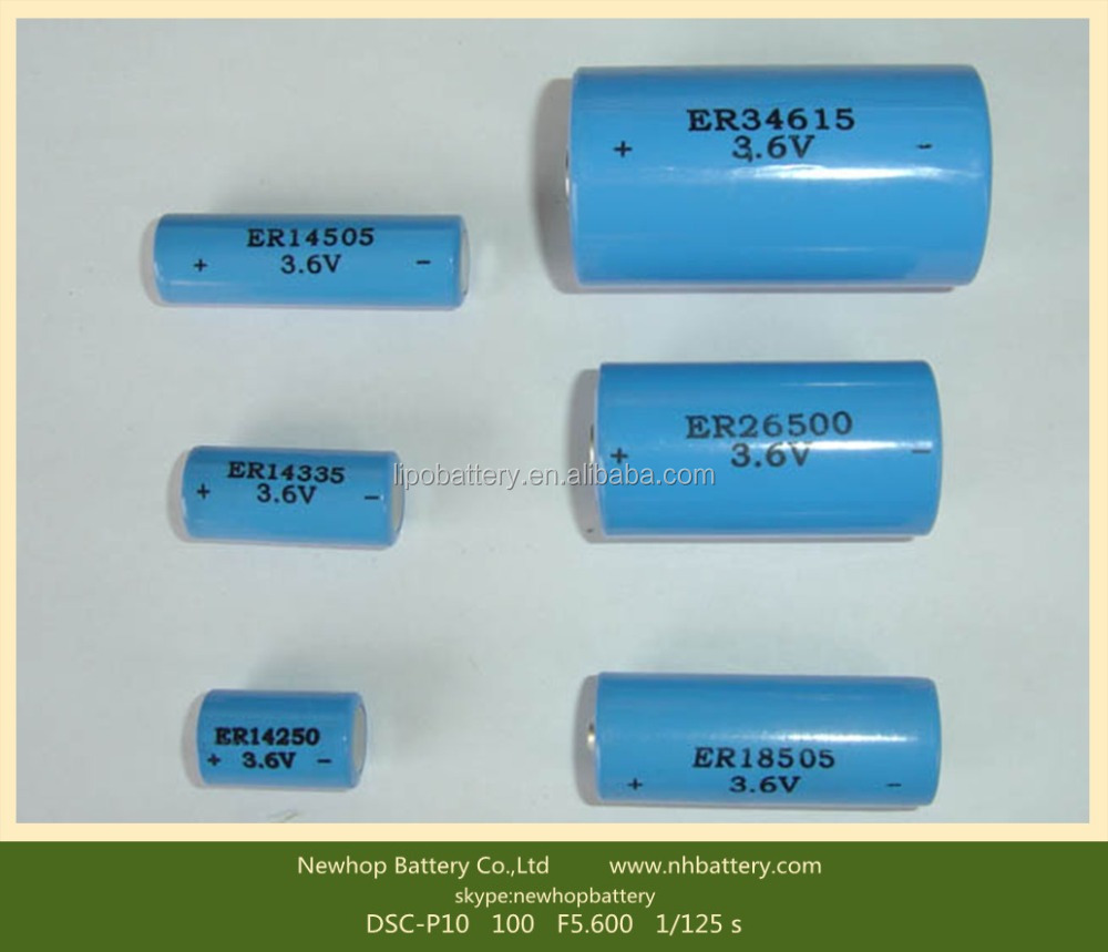 High quality er 34615 3.6v d cell size lithium cell battery for intelligent instrument and meter