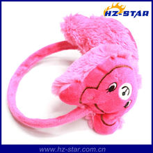 HZE-13067 winter fashion polyester kids cute animal ear muffs