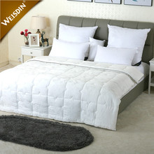 Guangzhou suppliers polyester /cotton cover duck down feather comforter duvet hotel bed quilt