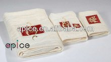 Luxury embroidery cotton hand towel/bath towel/towel set