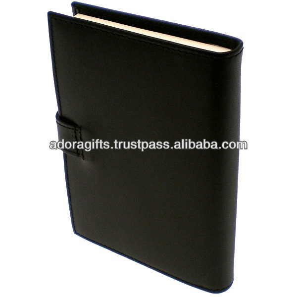 ADADC - 0110 wholesale thick leather notebook / fancy diary cover notebook / popular new design lock diary notebook