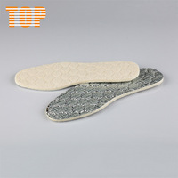 breathable anti odor sheep wool warm aluminum foil insoles