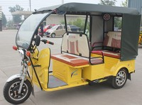 Battery Powered E-rickshaw / with Roof /3 wheels passenger rickshaw / China top tricycle