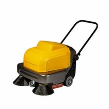 handheld commercial smart warehouse magnetic electric power 360 rotary double brushes walk behind manual sweeper