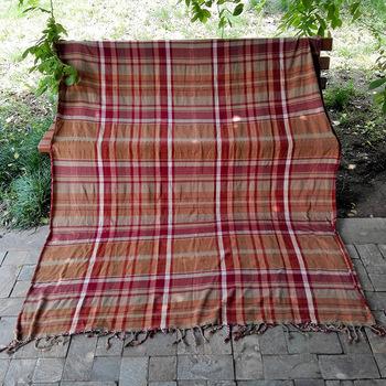 Polyester Acrylic Woven Blankets Anti Slip Cover Slipcover