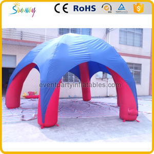 China factory manufacture blue and red inflatable cheap big canopy tent for sale