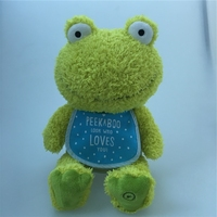 Hotselling stuffed green plush frog toys