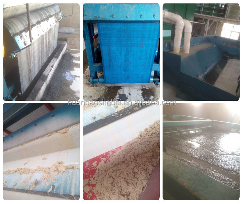 Continuously Running Belt Filter Press for Solid/liquid Separation for Slurry