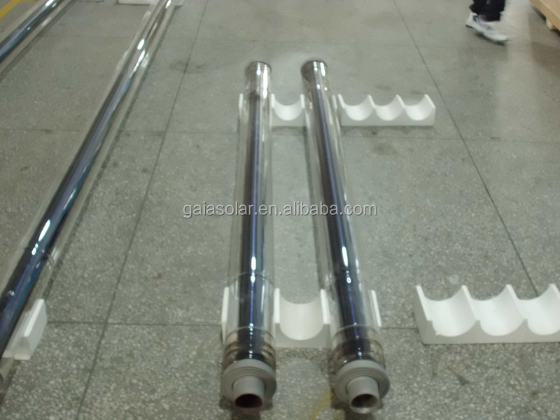 Both open solar evacuated tube CSP high diameter solar tubes