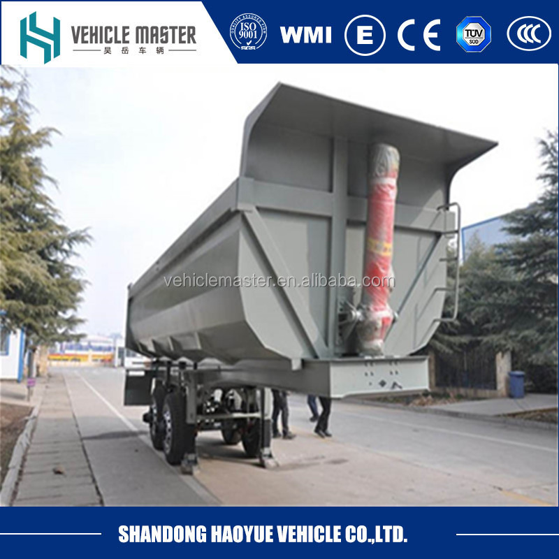 tipper trailer 25 M3 28 M3 dump semi trailer for mining transportation