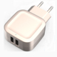 2017 New private model 5V 3.1A/3.4A power adapter wall charger with 2 USB ports for mobile phone