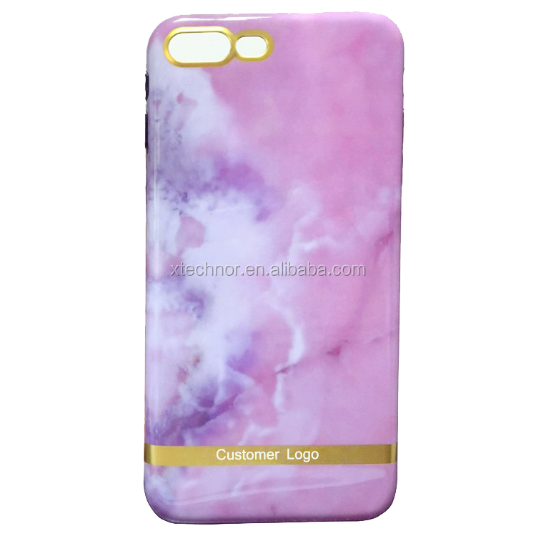 Premium Pink Marble Phone Case with Exact Fit Shockproof Anti-scratch soft Cover for Apple iPhone
