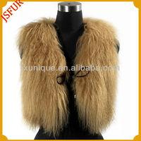 2014 stylish top lamb fur women wholesale fleece vest fur vest from china
