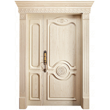 HS-YH8044 new models villa entry wood solid wooden door fancy door
