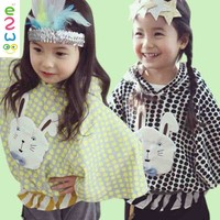 New Design Children's Tops Batwing Sleeve Little Girls Child Clothes