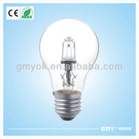 dimmable and instant start up 18w and b22 energy saving halogen lamp a60