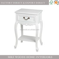 vintage french chic style bedroom furniture antique reclaimed wooden bedside tables white