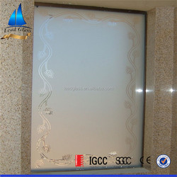 factory 8mm 10mm 12mm frosted tempered glass shower wall panels