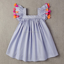 Beautiful Children girl Ruffles dresses,girls dress names with pictures, 100% cotton stripe boutique dresses