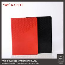 customize cardboard cover diary Thermo PU embossed notebook with rhombus