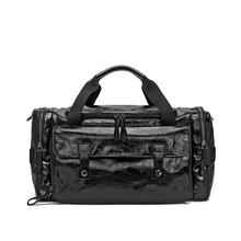 Vintage travel mens leather weekend duffel bags