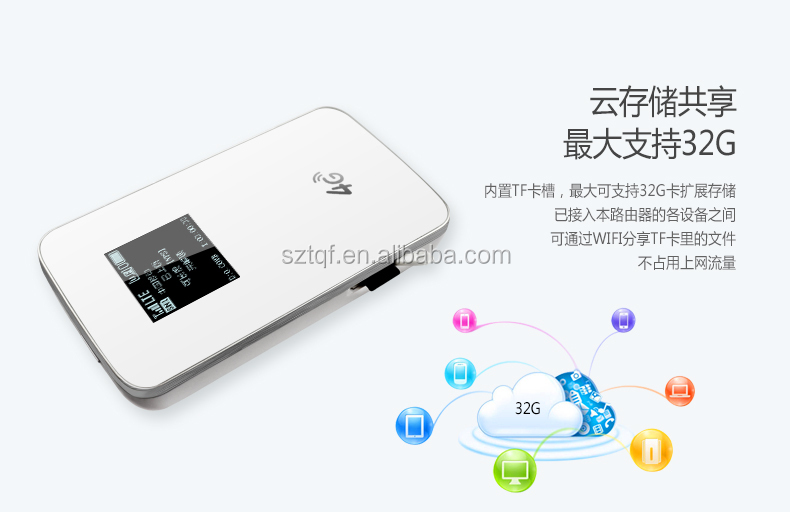 Pocket 4g wifi hotspot with sim card slot, portable 3g 4g wifi hotspot router