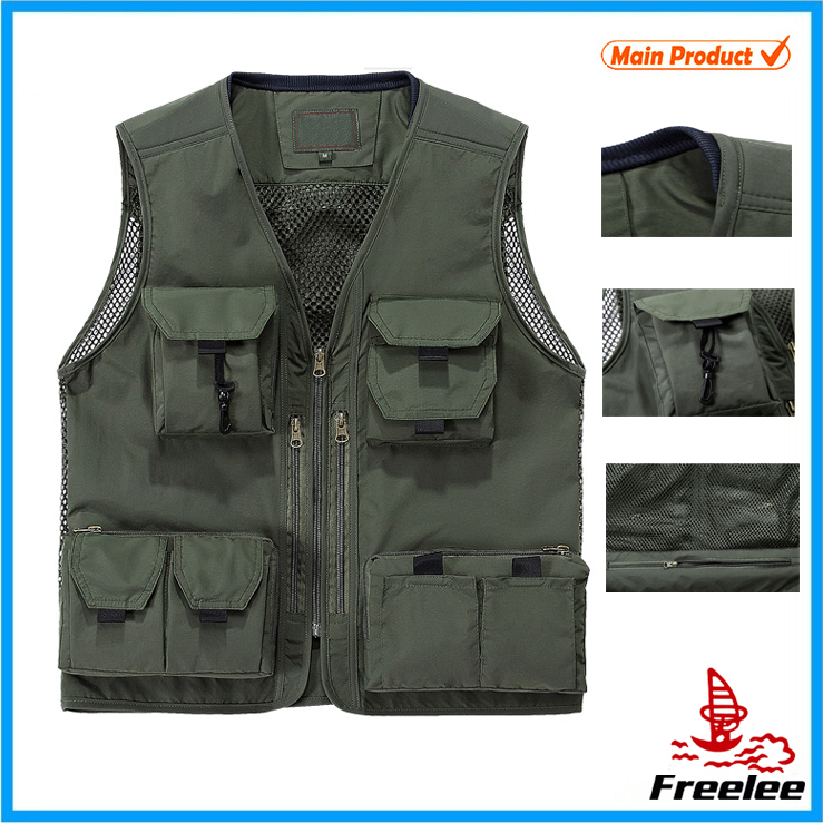 2015 Multi Pockets Summer Fly Fishing Vest for Men