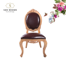 High quality dining chair leather oak dining chair for sale