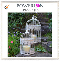 Decorative Metal Small Bird Cage Candle Holder