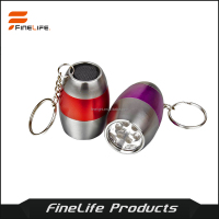 NINI Pocket torch 6 LED Egg Keychain Light Metal aluminum led flashlight