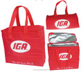 promotional custom red disposable coolr bag