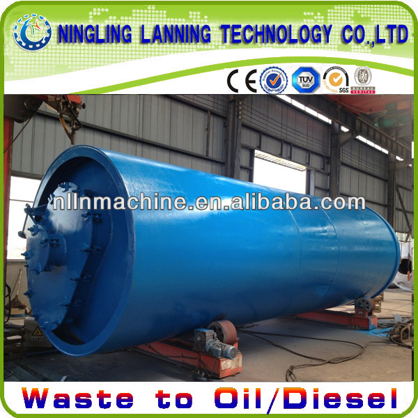 hot selling pyrolysis plant for waste plastic and used tire