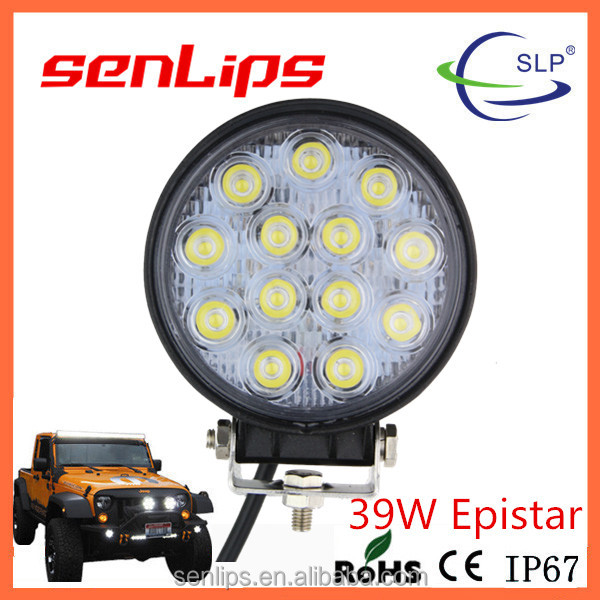 Top-quality 39W led work light car accessories lighting motorcycle snowmobile trucks lighting