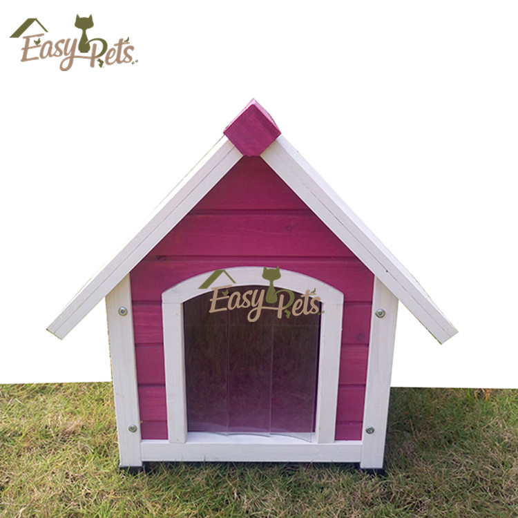 Wood House Storage Doghouse Plan Xxl Dog Kennel With Flat Roof