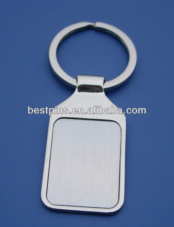 Stainless steel rectangle blank keychain wholesale