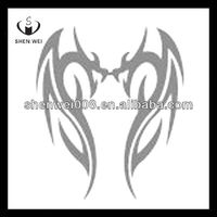 fashion silver color temporary dragon tattoos for kids