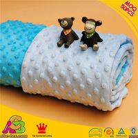 SGS checked professional China supplier 50pcs MOQ 2015 newest design printing minky blanket for baby
