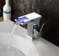 Fashionable sink led waterfall faucet