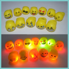 12 styles of LED Flashing Emoji Ring Light Up Emotion Ring