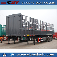 OBT 3axle fence stake semi trailer Warehouse storage