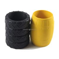 Custom shape and size promotion tyre can cooler --logo printing available