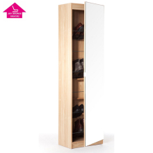 Mirror Factory Wooden Shoe Storage Display Cabinet Rack
