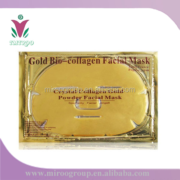 Free shipping to USA! 250pcs/lot Most Effective Skin Scrubber Type Pure Collagen 24K Gold Crystal Facial Mask for Anti-aging