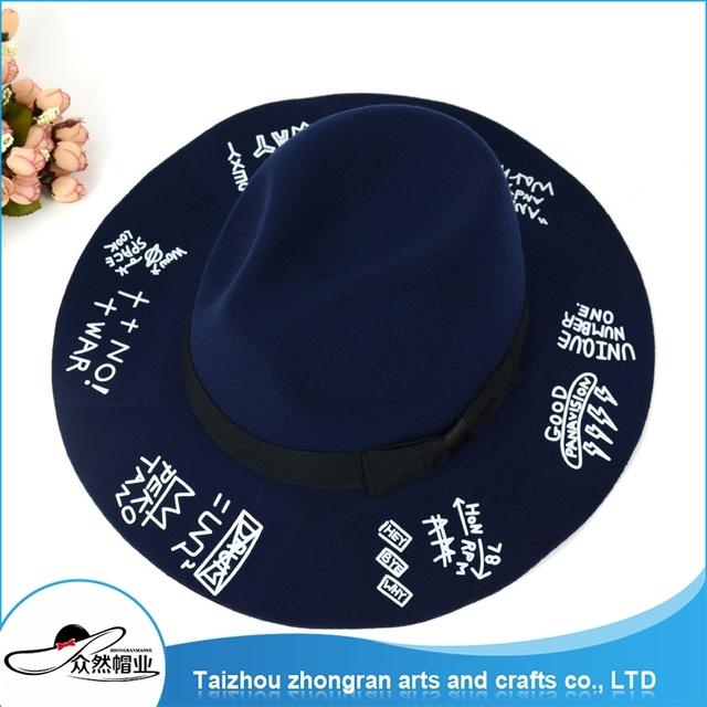 High Quality Wholesale Fashion Felt Top Cap Felt Fedora Hats