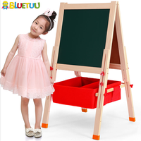 Bluetuu magic easel stand wood for kids drawing parts