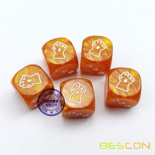 Custom Engraving Pearl Marble Dice