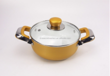 golden restaurant soup pot with lid